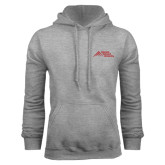 Grey Fleece Hoodie-Official Logo - Stacked