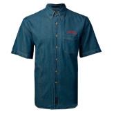 Denim Shirt Short Sleeve-Official Logo - Stacked