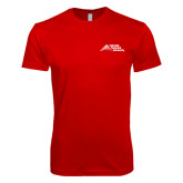 Next Level SoftStyle Red T Shirt-Official Logo - Stacked