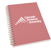 Clear 7 x 10 Spiral Journal Notebook-Official Logo - Stacked