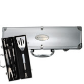 Grill Master 3pc BBQ Set-Official Logo - Flat Engraved