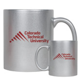 Full Color Silver Metallic Mug 11oz-Official Logo - Stacked