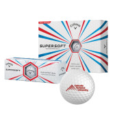 Callaway Supersoft Golf Balls 12/pkg-Official Logo - Stacked