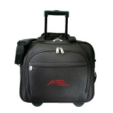 Embassy Plus Rolling Black Compu Brief-Official Logo - Stacked