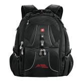 Wenger Swiss Army Mega Black Compu Backpack-Official Logo - Stacked