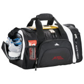 High Sierra Black 22 Inch Garrett Sport Duffel-Official Logo - Stacked