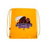 Gold Drawstring Backpack-CCNY Beavers