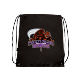 Black Drawstring Backpack-CCNY Beavers