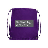 Purple Drawstring Backpack-Official Logo
