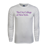 White Long Sleeve T Shirt-The City College of New York