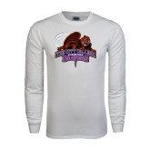White Long Sleeve T Shirt-CCNY Beavers
