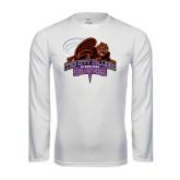 Performance White Longsleeve Shirt-CCNY Beavers