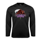 Performance Black Longsleeve Shirt-CCNY Beavers