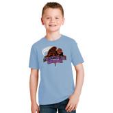 Youth Light Blue T Shirt-CCNY Beavers