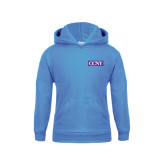 Youth Light Blue Fleece Hoodie-CCNY