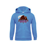 Youth Light Blue Fleece Hoodie-CCNY Beavers