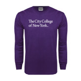 Purple Long Sleeve T Shirt-The City College of New York