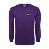 Purple Long Sleeve T Shirt-CCNY