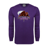 Purple Long Sleeve T Shirt-CCNY Beavers