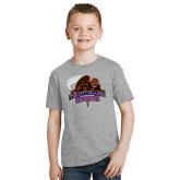 Youth Grey T-Shirt-CCNY Beavers