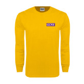 Gold Long Sleeve T Shirt-CCNY