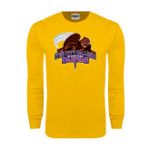 Gold Long Sleeve T Shirt-CCNY Beavers