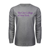 Grey Long Sleeve T Shirt-The City College of New York