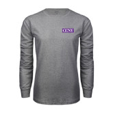 Grey Long Sleeve T Shirt-CCNY