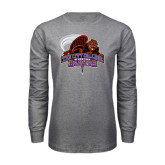 Grey Long Sleeve T Shirt-CCNY Beavers