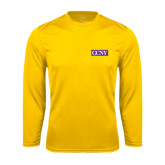 Syntrel Performance Gold Longsleeve Shirt-CCNY