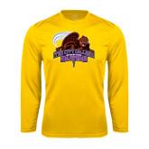 Performance Gold Longsleeve Shirt-CCNY Beavers