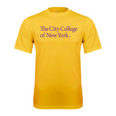 Syntrel Performance Gold Tee-The City College of New York