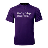 Under Armour Purple Tech Tee-The City College of New York
