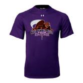 Under Armour Purple Tech Tee-CCNY Beavers