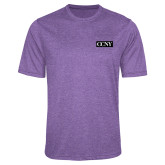 Performance Purple Heather Contender Tee-CCNY