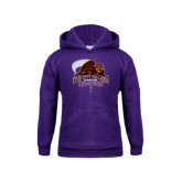 Youth Purple Fleece Hoodie-CCNY Beavers