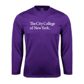 Syntrel Performance Purple Longsleeve Shirt-The City College of New York