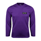 Performance Purple Longsleeve Shirt-CCNY