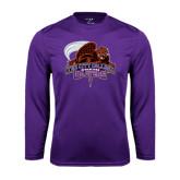 Performance Purple Longsleeve Shirt-CCNY Beavers