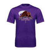 Performance Purple Tee-CCNY Beavers