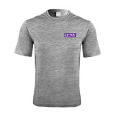 Performance Grey Heather Contender Tee-CCNY