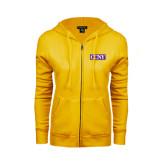ENZA Ladies Gold Fleece Full Zip Hoodie-CCNY