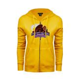 ENZA Ladies Gold Fleece Full Zip Hoodie-CCNY Beavers
