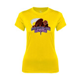 Ladies Syntrel Performance Gold Tee-CCNY Beavers