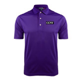 Purple Dry Mesh Polo-CCNY