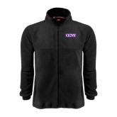 Fleece Full Zip Black Jacket-CCNY