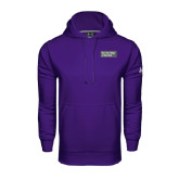 Under Armour Purple Performance Sweats Team Hoodie-Official Logo