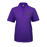 Ladies Easycare Purple Pique Polo-CCNY