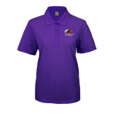 Ladies Easycare Purple Pique Polo-CCNY Beavers