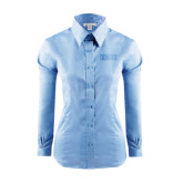 Ladies Red House Light Blue Long Sleeve Shirt-CCNY